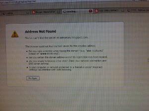 page load error