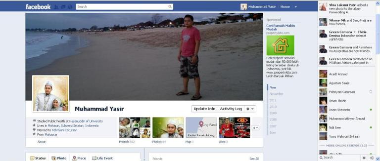 tampilan baru facebook timeline