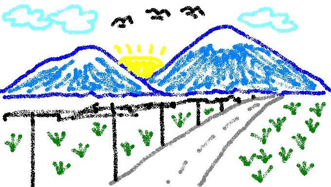 gambar pemandangan anak