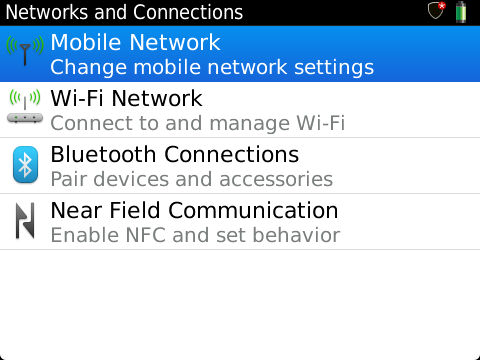 Mobile Network Setting