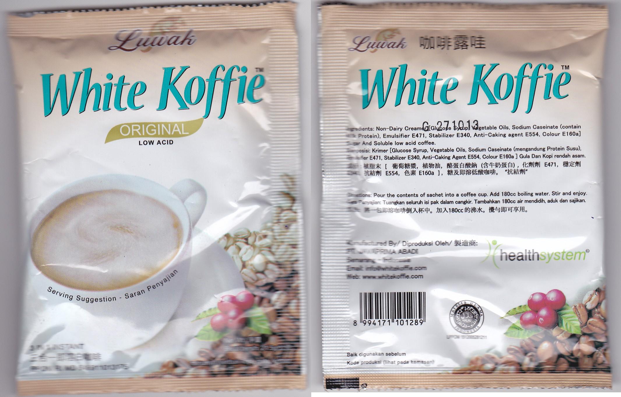 Citaten Koffie Haram : Luwak white koffie halal atau haram pradirwan