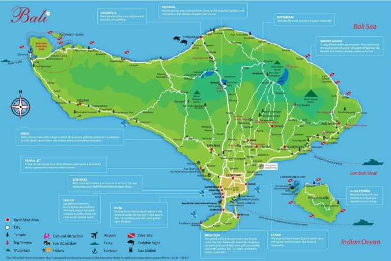 Peta Wisata Bali