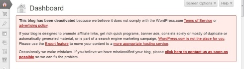 banned wordpress 3