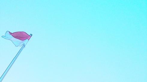 Merah Putih di Langit Biru